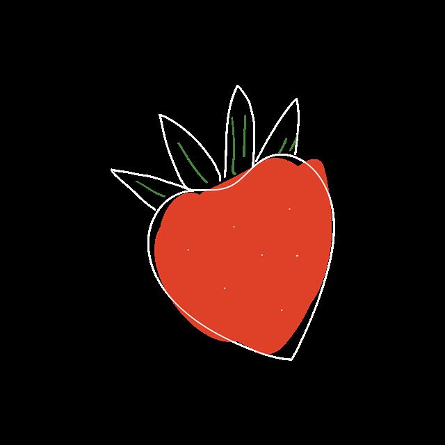 手绘草莓图片