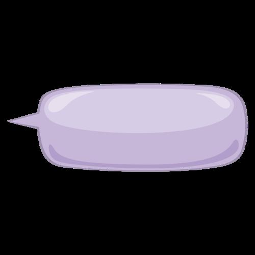 紫色气泡对话框