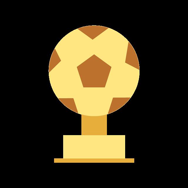 卡通足球奖杯图片