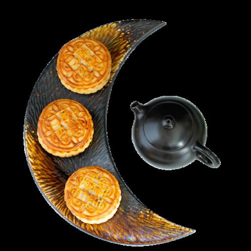 中秋月饼茶饮实拍图