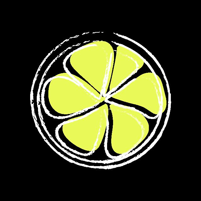 手绘柠檬元素