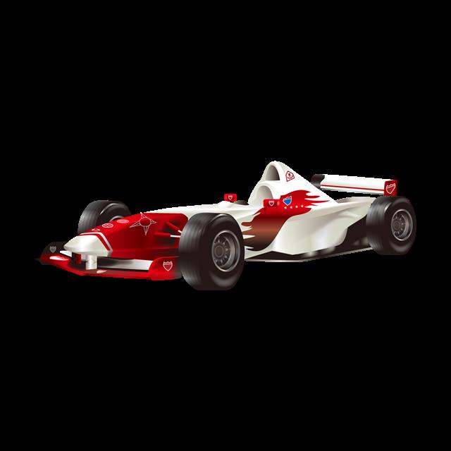 红色赛车矢量图