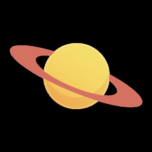卡通宇宙星球图标