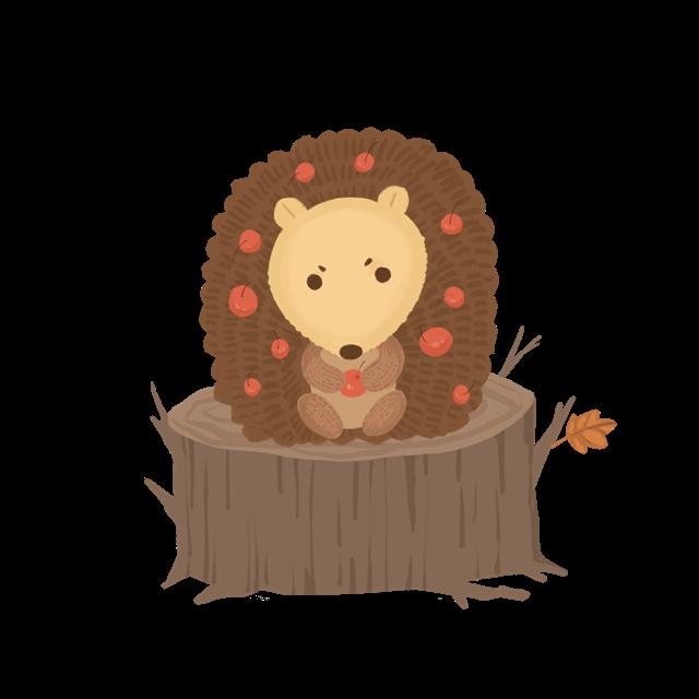 秋天动物插画