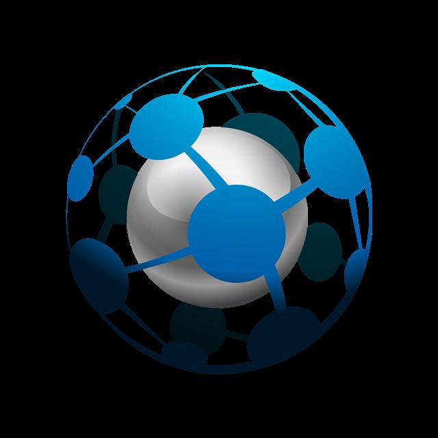 蓝色球形图标