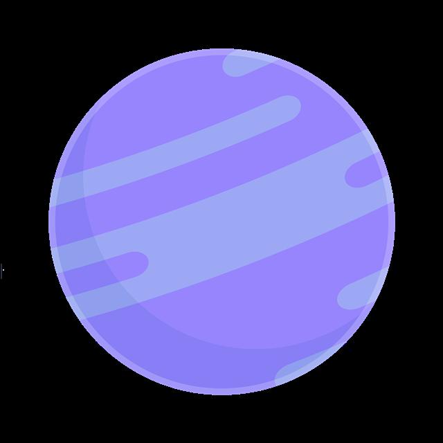 蓝色海王星矢量图