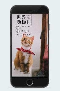世界动物日广告海报