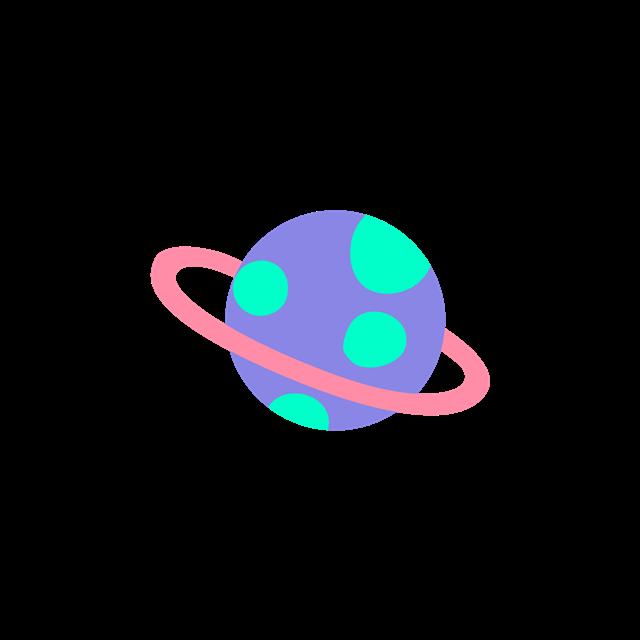 卡通紫色星球