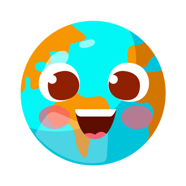创意地球微笑表情包