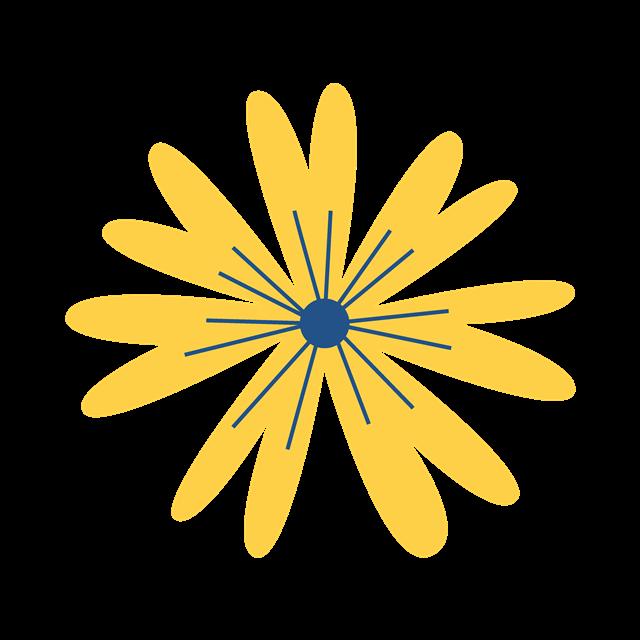 黄色抽象花朵