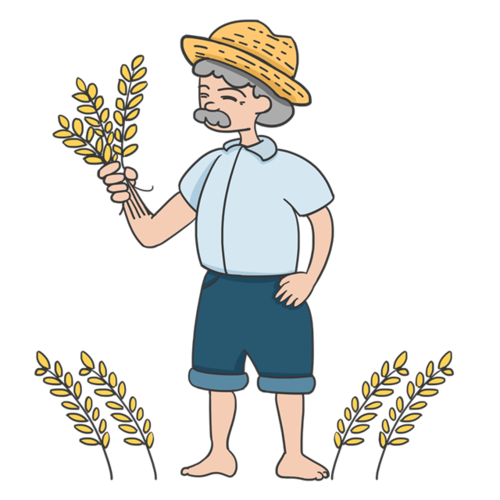 农民伯伯矢量图