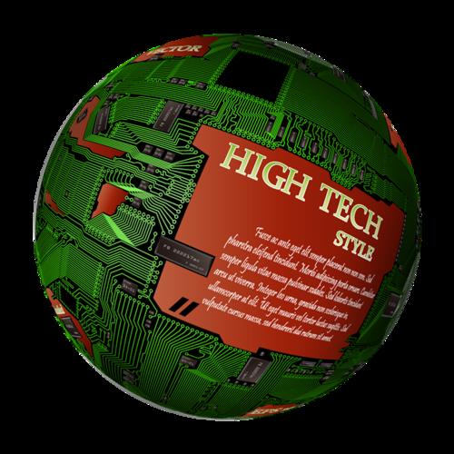 立体绿色地球矢量图