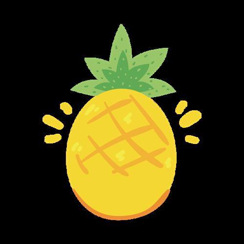 手绘菠萝素材