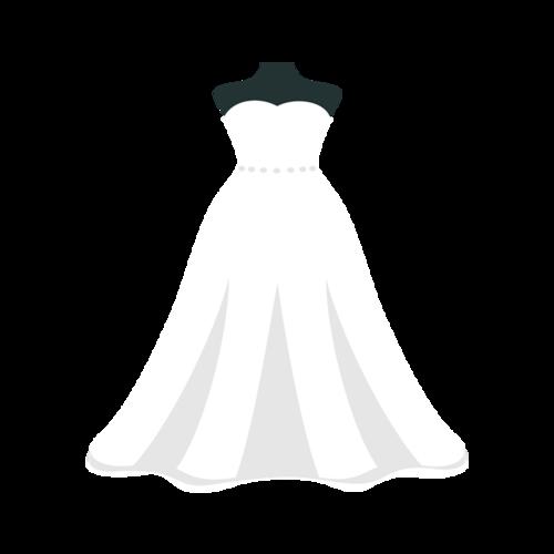 白色婚纱手绘设计图