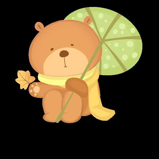 秋天小熊插画