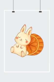 中秋可爱兔子