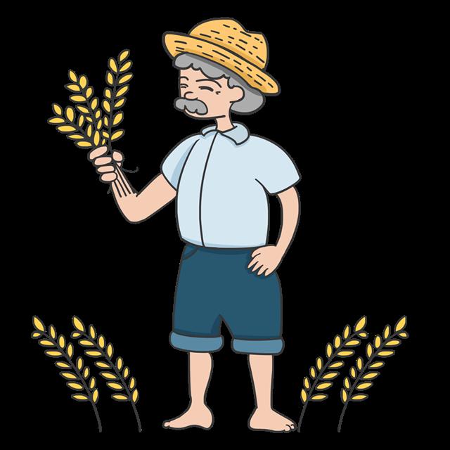 秋季丰收农民矢量图