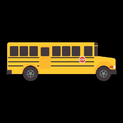 校园巴士矢量图