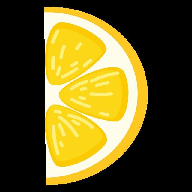 半片柠檬插画