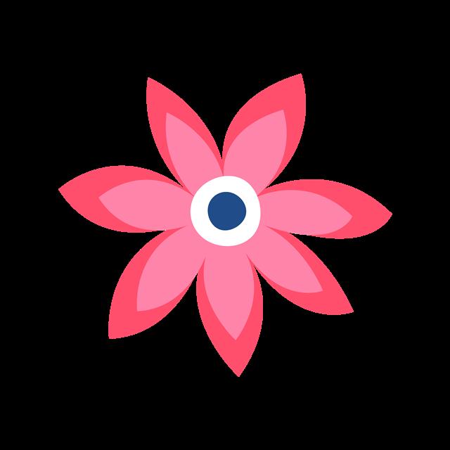 一朵粉色花朵图片