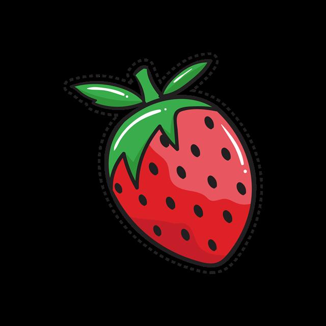卡通草莓贴纸