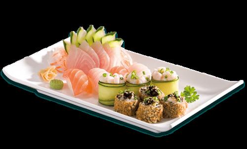 手绘寿司摆盘图片