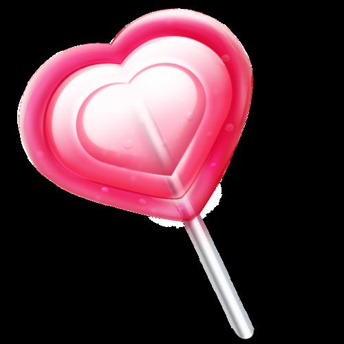 真实爱心棒棒糖图片