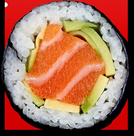 三文鱼寿司卷矢量素材