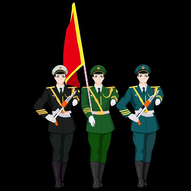 国庆节军人插画