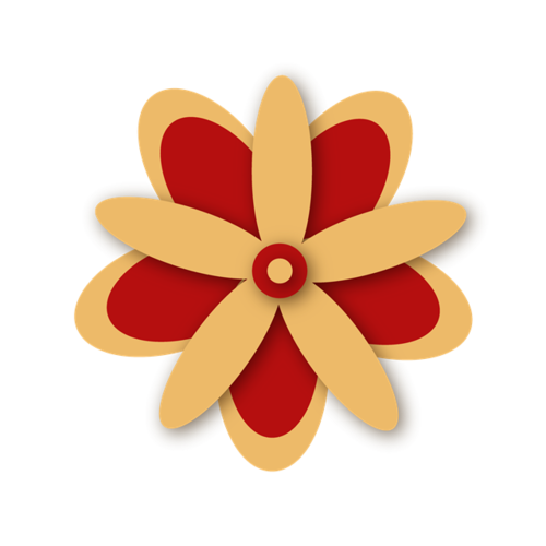 传统风花瓣图案