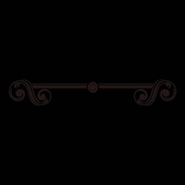 黑色花纹装饰