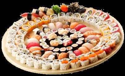 寿司拼盘手绘图片