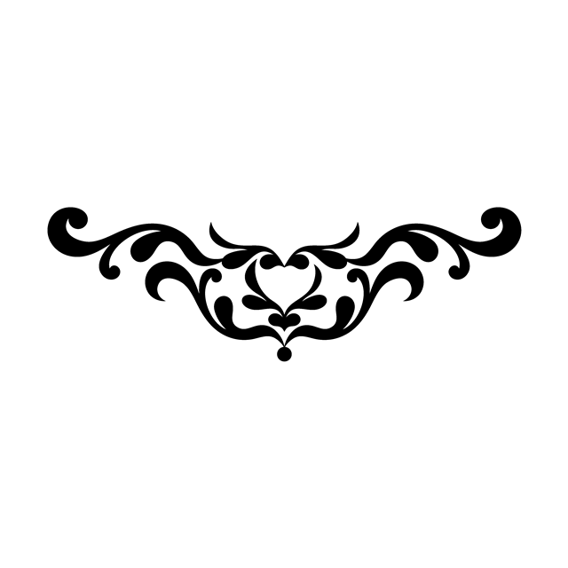 白底黑色花纹
