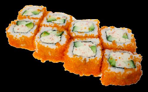鱼子酱寿司矢量图