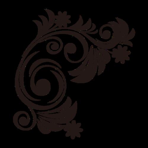 黑色装饰图案