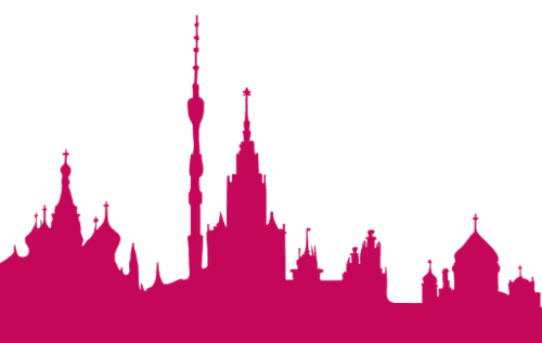 莫斯科城市剪影矢量图