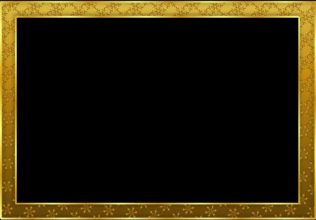 金色花纹相框