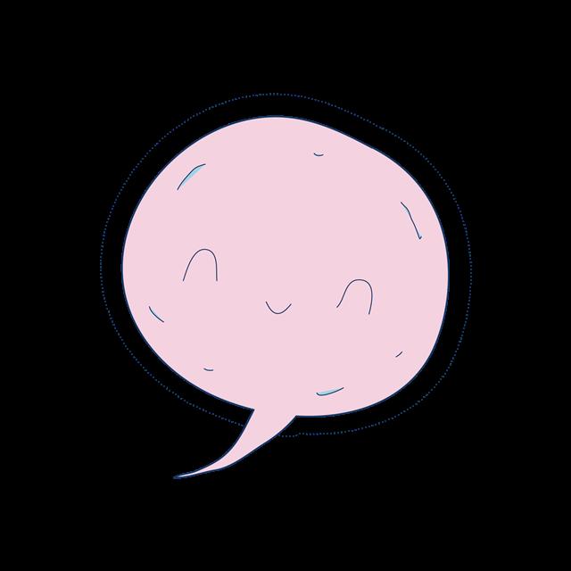 粉色气泡框矢量图