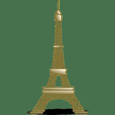 巴黎铁塔绘画图片