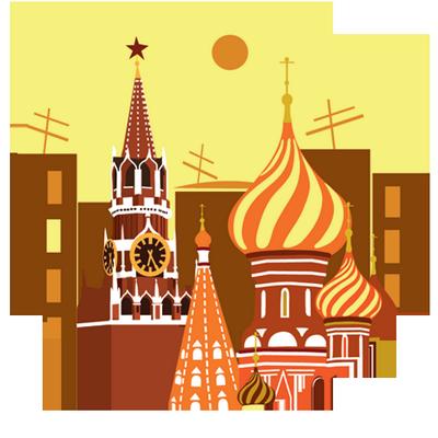 莫斯科城堡插画