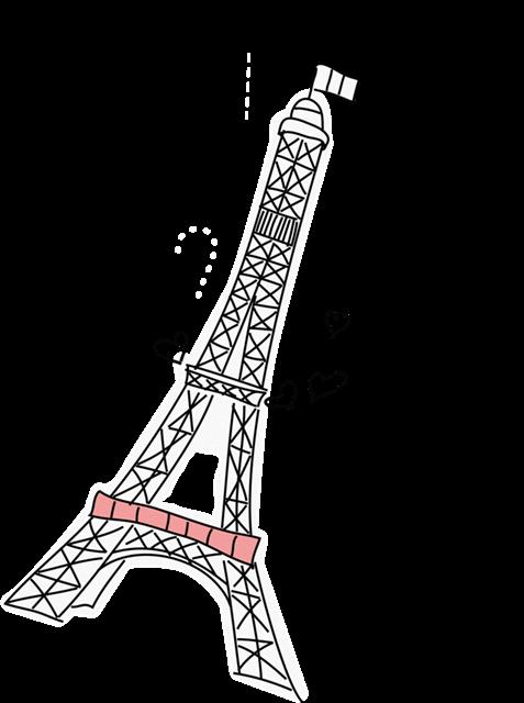 黑白巴黎铁塔图片