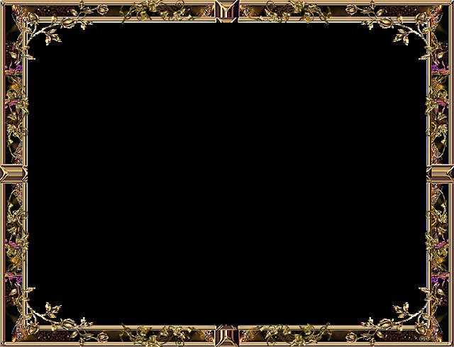 棕色花纹边框
