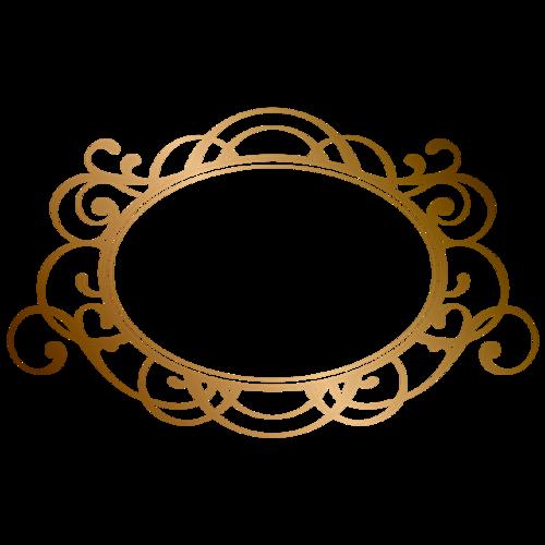 金色花纹边框矢量图