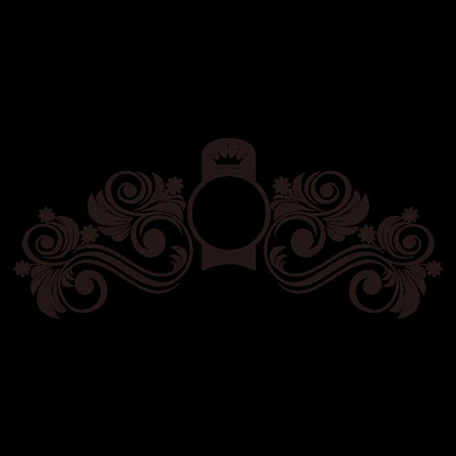 黑色复古装饰图案
