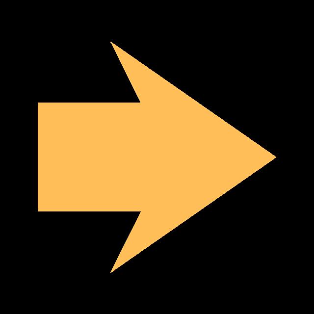 黄色箭头矢量素材