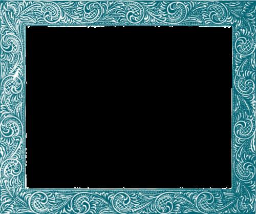 蓝色水纹边框