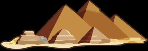 沙漠中的金字塔