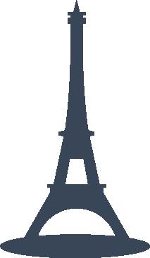 巴黎铁塔剪影图片