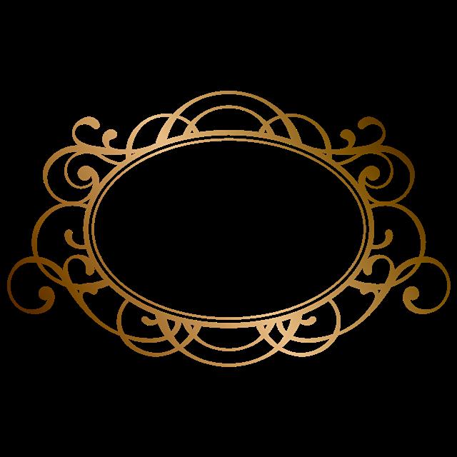 金色复古花纹边框