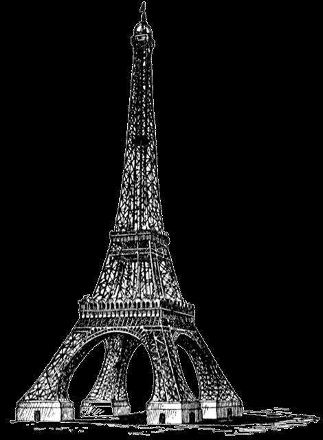埃菲尔铁塔绘画图片